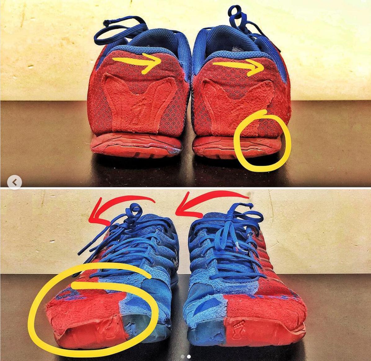 sneaker wear pattern